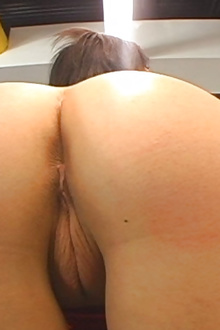 Hot brunette peach pussy loves to nailed hard